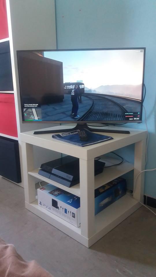 Fabriquer un meuble t l petit prix for Meuble tv petite taille