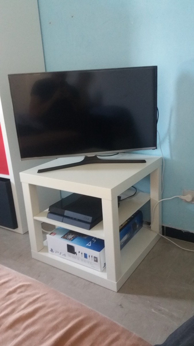 Hack d 39 un banc tv ikea lack - Petit meuble de salon ...