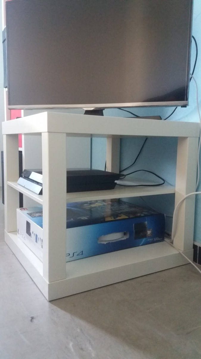 Fabriquer un meuble t l petit prix bidouilles ikea - Petit meuble tv ikea ...