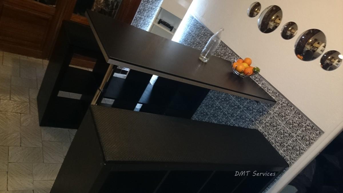 cr ation de table haute et bancs. Black Bedroom Furniture Sets. Home Design Ideas