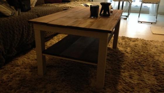 Une table LACK relookée nature