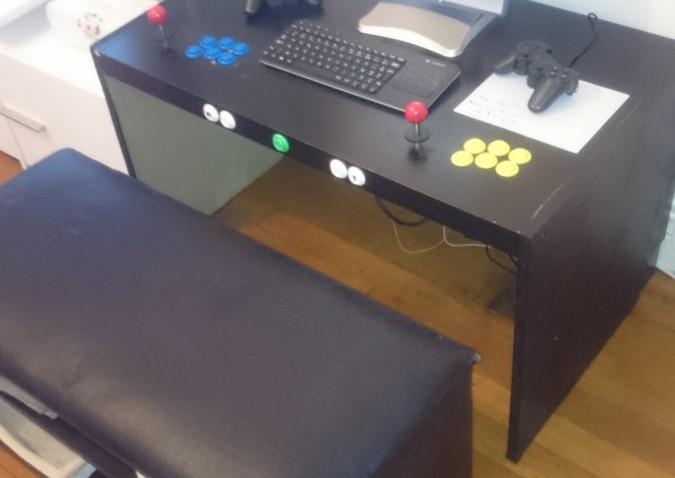 Borne D Arcade Avec Banc Lack Et Mosjo Bidouilles Ikea