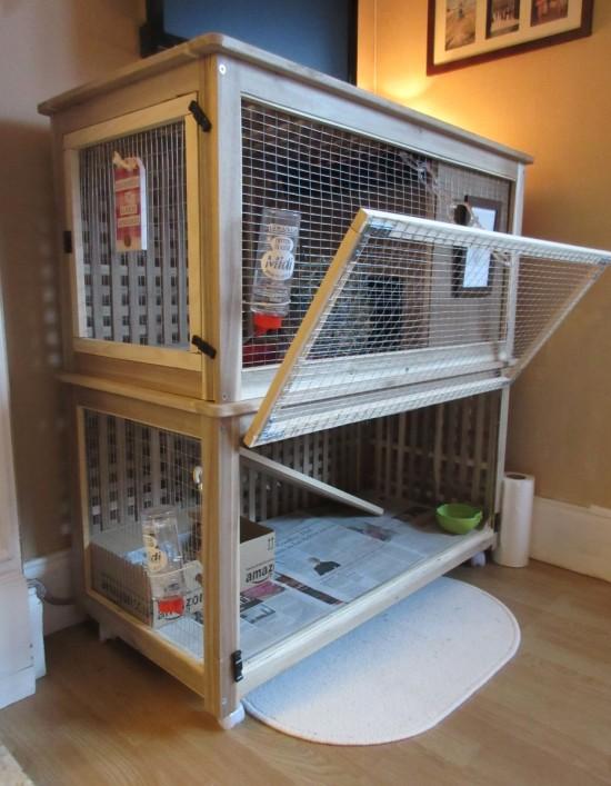 un palace pour les lapins clapier d 39 int rieur pour lapins. Black Bedroom Furniture Sets. Home Design Ideas