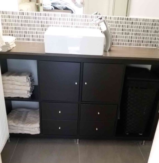 KALLAX bathroom vanity for small bathroom