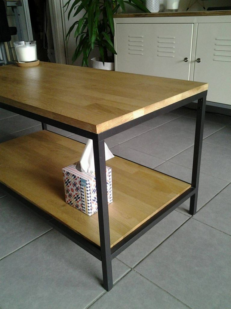 Transformation d 39 une table vittsj bidouilles ikea for Ikea table basse relevable