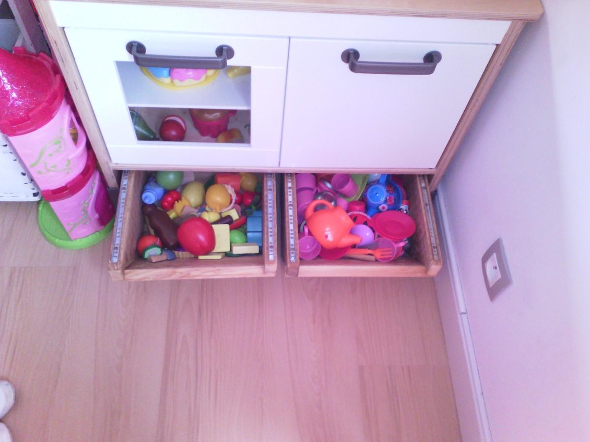 Cr ation de tiroirs de rangement sous mini cuisine duktig bidouilles ikea - Creation cuisine ikea ...