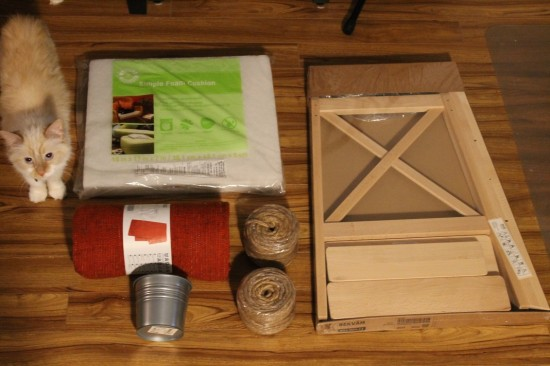 Materials for DIY cat tree
