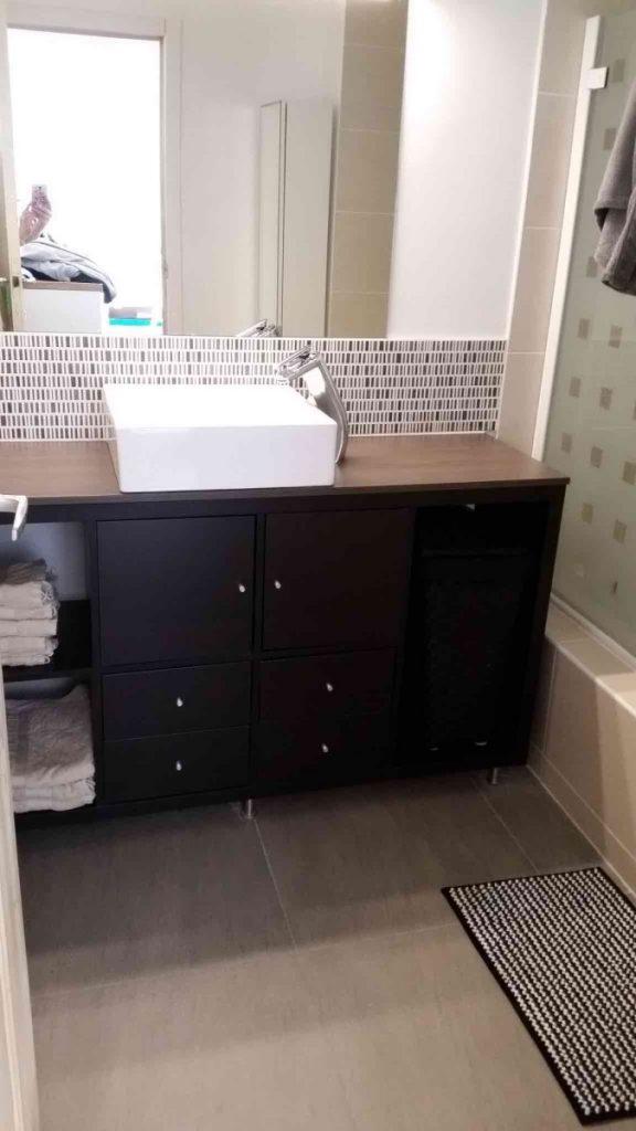 Meuble diy ikea pour une petite salle de bain bidouilles - Meubles de salle de bains ikea ...