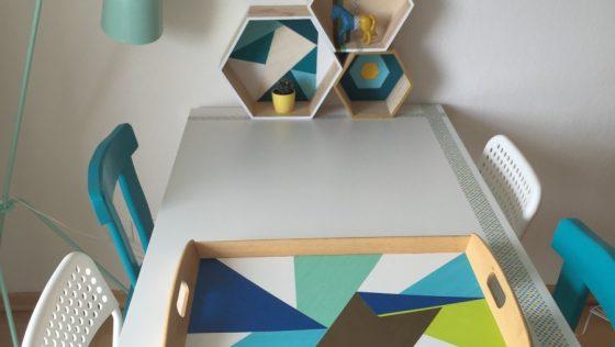 Une table et son plateau IKEA customisés