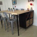 2 en 1 : Îlot de cuisine IKEA et table pas cher en DIY