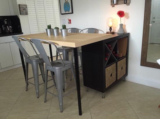2 En 1 Ilot De Cuisine Ikea Et Table Pas Cher En Diy