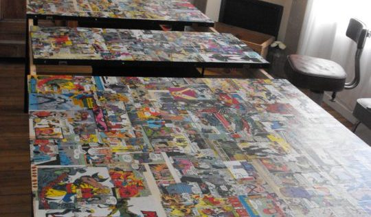 Table de salle à manger ikea customisée