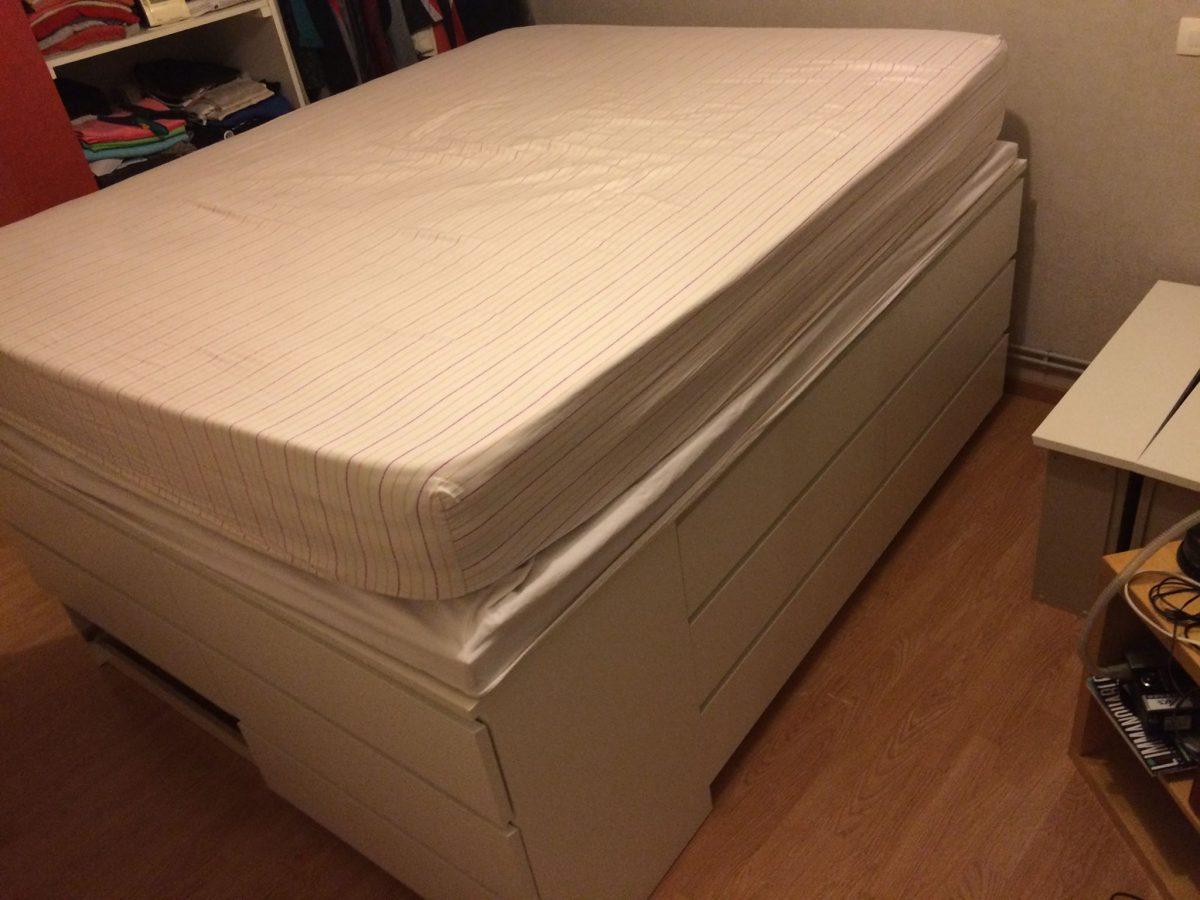 lit plateforme de 160 avec du rangement et malm bidouilles ikea. Black Bedroom Furniture Sets. Home Design Ideas