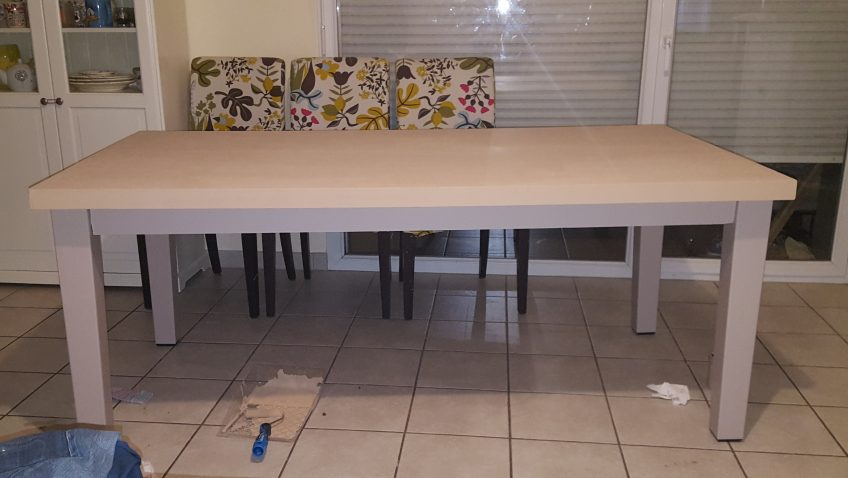 table salle a manger ikea diy dining room table with x boards from lowes this is the coolest. Black Bedroom Furniture Sets. Home Design Ideas