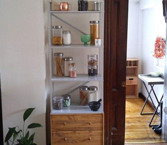 L 39 tag re draget la commode rast un meuble de rangement la verticale - Rangement etroit cuisine ...