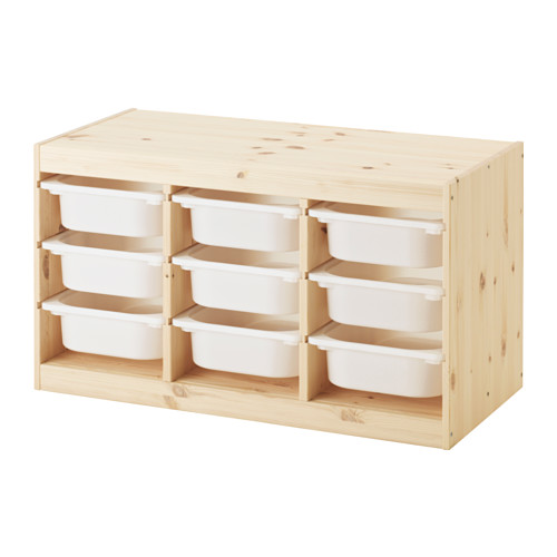 IKEA TROFAST storage combination with white trays