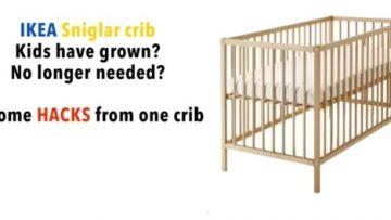 Un lit bébé SNIGLAR, 3 nouvelles façons de l'utiliser