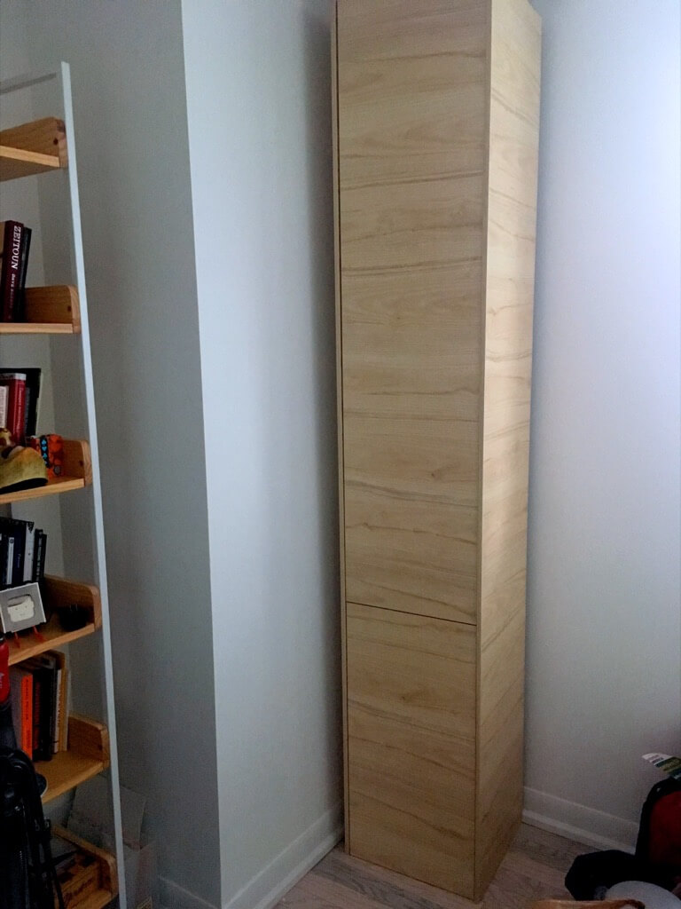 DIY Shoe cabinet tall and narrow for the entryway
