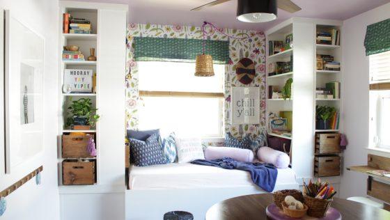 Un canapé «coin lecture», à partir de bibliothèques IKEA