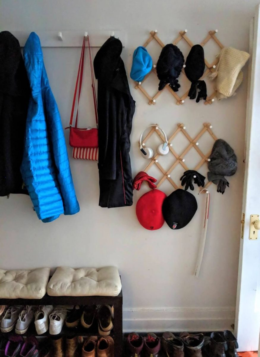 mudroom hat and coat rack