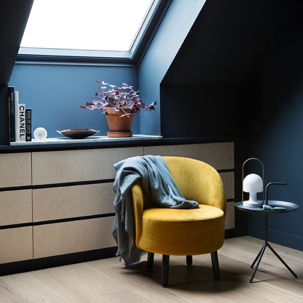 Stylish loft storage with customised built-in IKEA chests