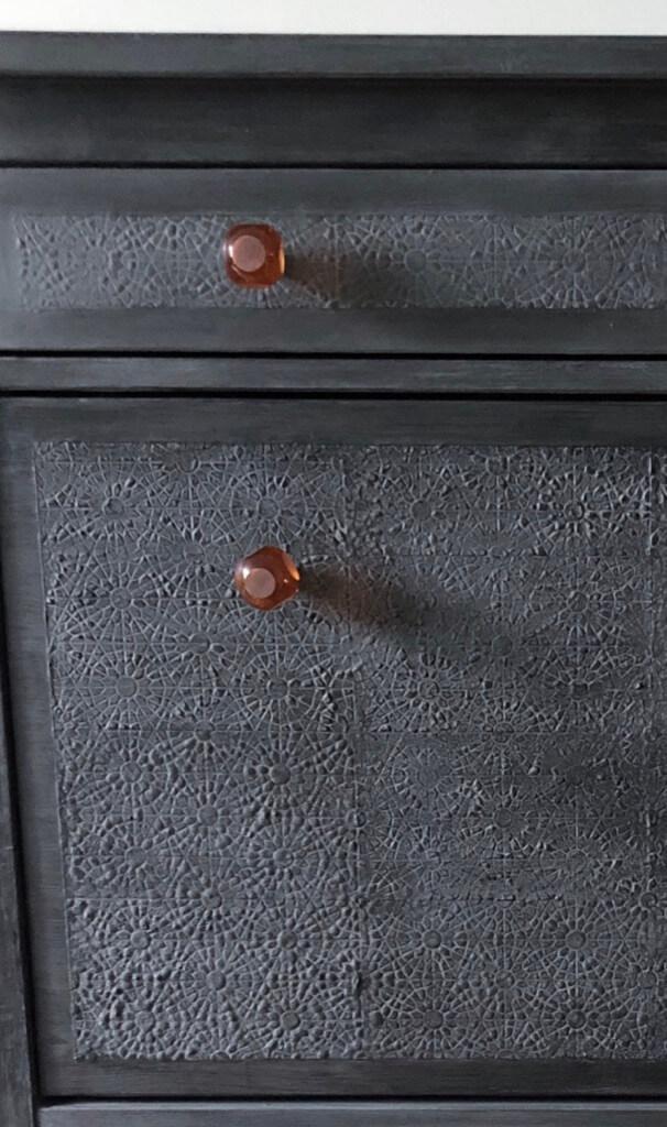classy textured black shoe cabinet