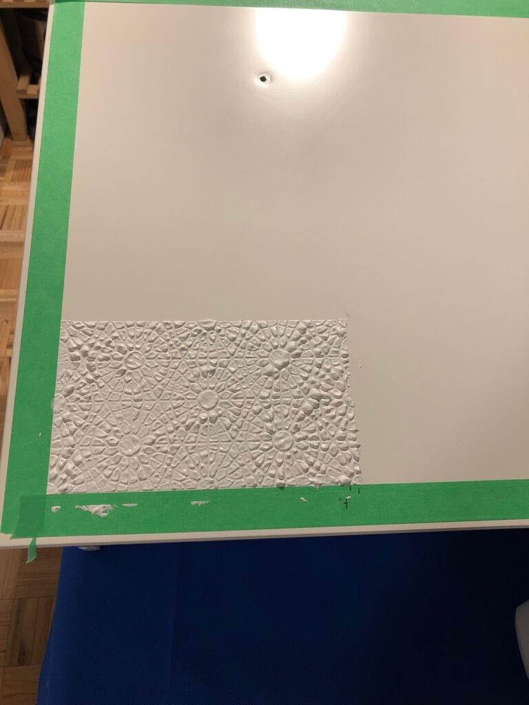Apply acrylic paint on stencil