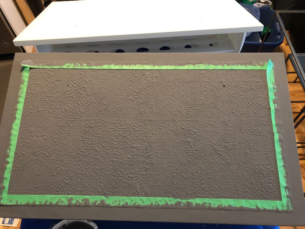 paint over textured black shoe cabinet