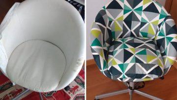 Une nouvelle housse pour une vieille chaise IKEA SKRUVSTA